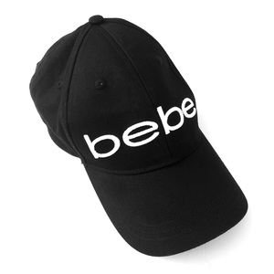 Bebe Black Logo Baseball Cap Hat NWOT